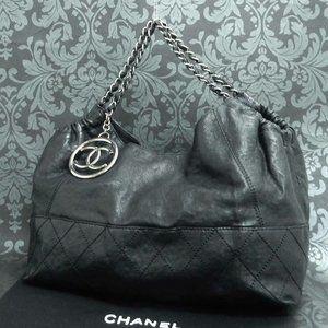 Chanel Black Skin Leather Bag